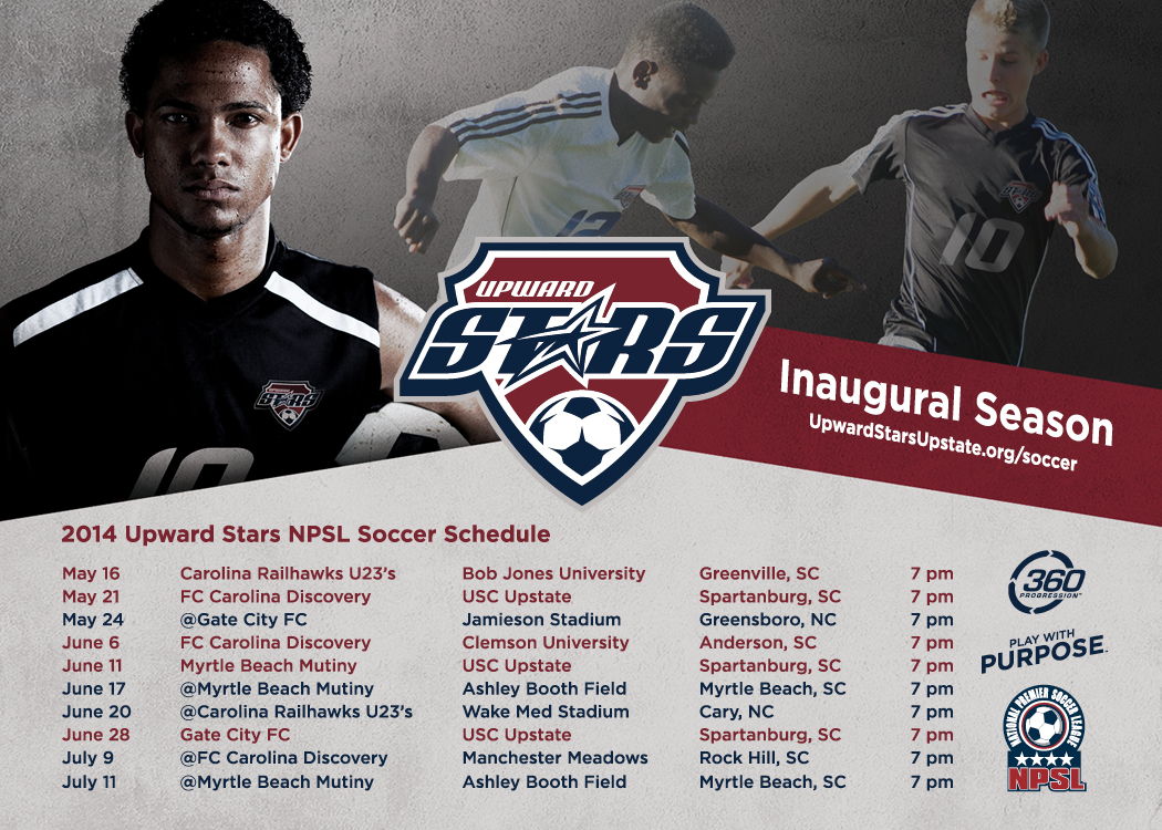 Upward Stars NPSL Schedule 2014